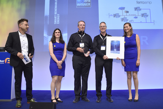 """The smarter E AWARD (Smart Renewable Energy): Ferroamp Elektronik AB was honored for """"PowerShare Technology with """"bottom-up"""" approach"""""""