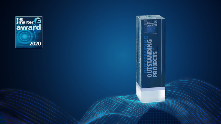 Trophy of The smarter E AWARD category Outstanding Projects