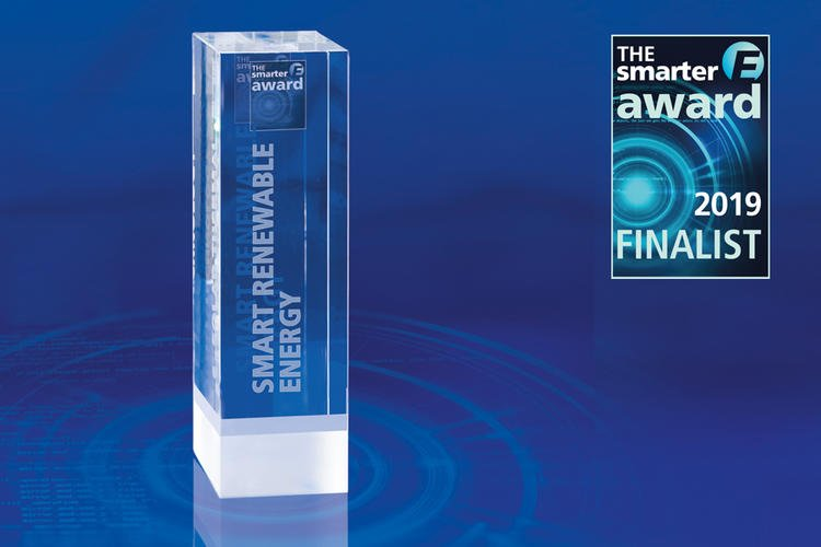 rophy and finalist signet of the The smarter E AWARD