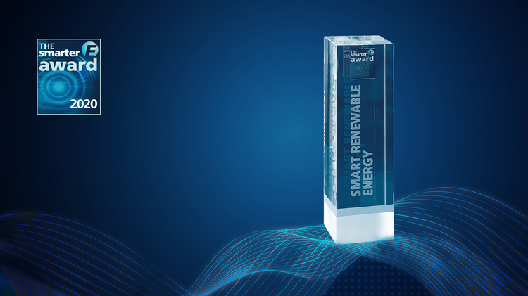 Trophy of The smarter E AWARD category Smart Renewable Enegy