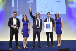 "Intersolar AWARD: Krinner Solar GmbH was honored for ""CAS²– Computer Aided Solar Structure"""