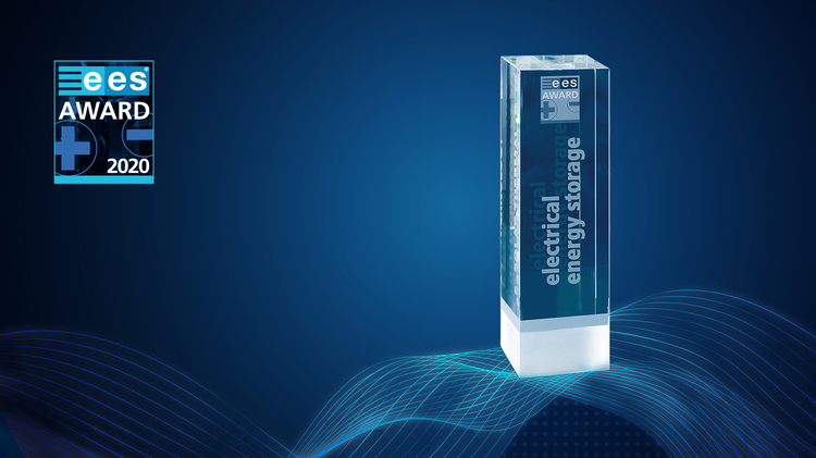 Trophy of the ees AWARD category Electrical Energy Storage